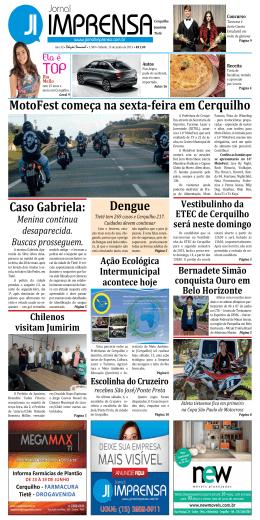 MotoFest começa na sexta-feira em Cerquilho Caso Gabriela: Dengue