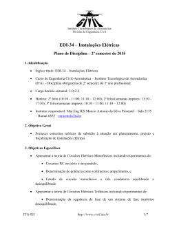 EDI-34 – Instalações Elétricas - Divisão de Engenharia Civil do ITA