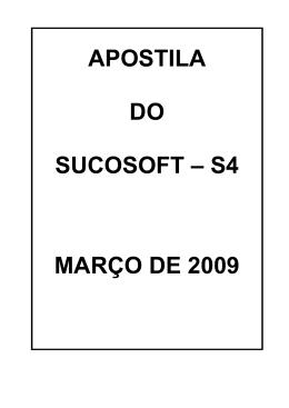APOSTILA DO SUCOSOFT – S4 MARÇO DE 2009