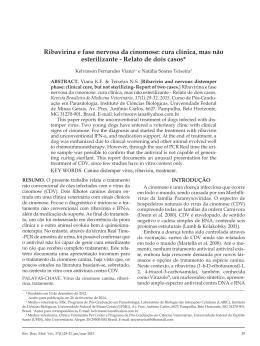 Ribavirina e fase nervosa da cinomose: cura clínica, mas não
