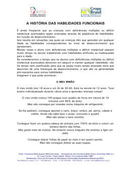 A HISTÓRIA DAS HABILIDADES FUNCIONAIS