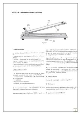 PRÁTICA 02 – Movimento retilíneo e uniforme.