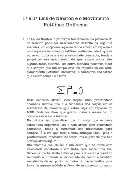 1ª e 3ª Leis de Newton e o Movimento Retilíneo Uniforme