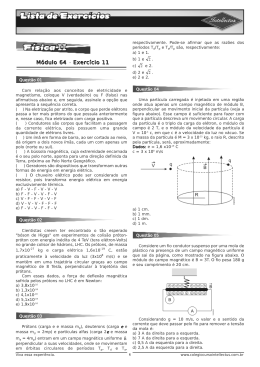 Lista de exercícios 3 Ano Apostila 02 Fisica II Modulo 64