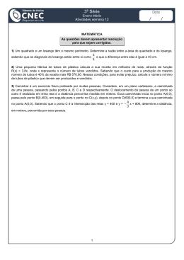 Atividade de Matemática - 3ª EM