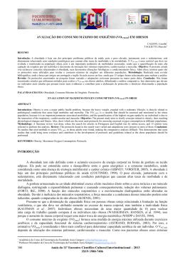 avaliação do consumo máximo de oxigênio (vo2 máx) em