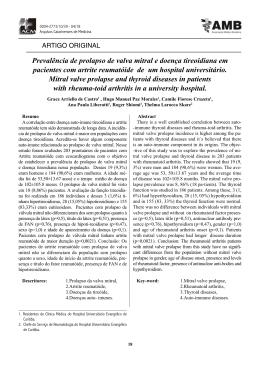 Prevalência de prolapso de valva mitral e doença tireoidiana em