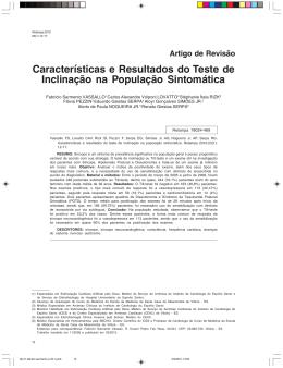 Características e Resultados do Teste de Inclinação na