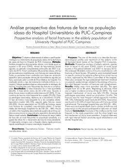Análise prospectiva das fraturas de face na população