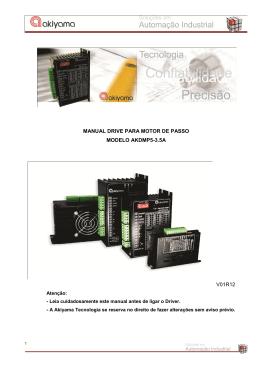 manual drive para motor de passo modelo akdmp5
