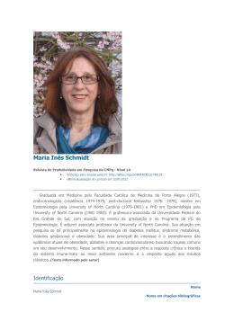 Maria Inês Schmidt - Fundação Conrado Wessel