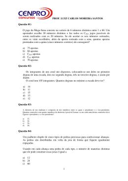 PROF. LUIZ CARLOS MOREIRA SANTOS 1