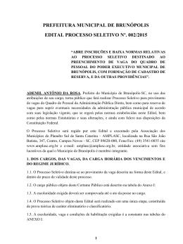 Abertura Edital - Concurso Prefeitura