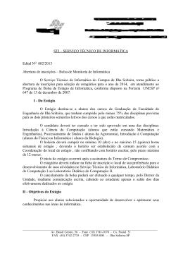 STI – SERVIÇO TÉCNICO DE INFORMÁTICA Edital NO 002/2013