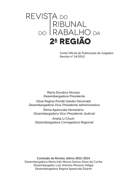 Maria Doralice Novaes Desembargadora Presidente Silvia Regina