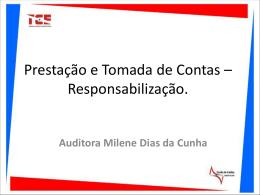 Palestra: Apresentacao Santarém. Palestrante - Portal TCE-PA