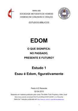 Estudo 1 Esau é Edom, figurativamente