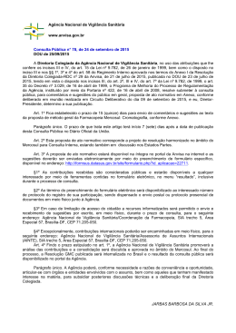 Consulta Pública nº 78, de 24 de setembro de 2015