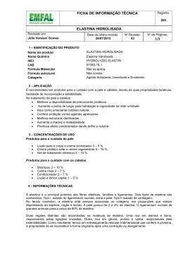 ficha de informação técnica elastina hidrolisada