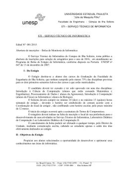 STI – SERVIÇO TÉCNICO DE INFORMÁTICA Edital NO 001/2015