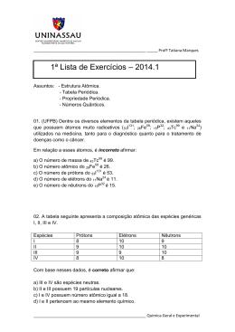 1º lista de exercicio_Quimica Geral e Experimental