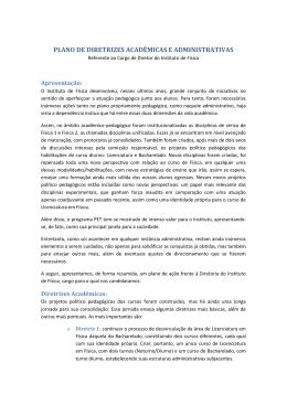 Plano de Diretrizes Acadêmicas e Administrativas – Eleição para