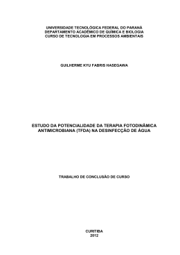 estudo da potencialidade da terapia fotodinâmica