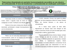 Tuberculose disseminada em paciente imunocompetente