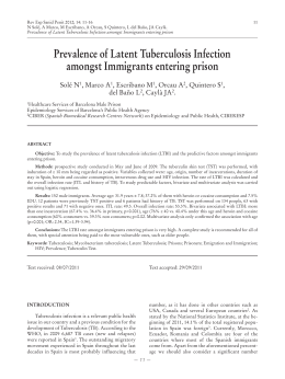 Prevalence of Latent Tuberculosis Infection amongst Immigrants