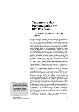 Tratamento das Pneumopatias em HIV Positivos