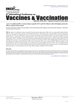 A new recombinant BCG vaccine induces