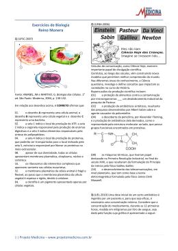 Exercícios de Biologia Reino Monera