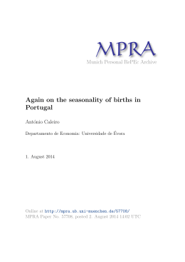 Again on the seasonality of births in Portugal