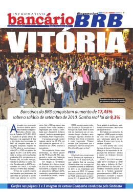 Bancários do BRB conquistam aumento de 17,45% sobre o salário