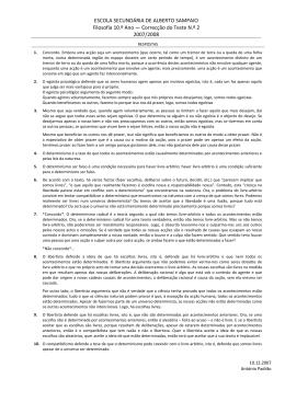 Correcção Teste 2AP - Escola Secundária de Alberto Sampaio