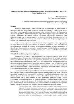 CONCEPÇÕES DE CUSTOS EM ENTIDADES HOSPITALARES: