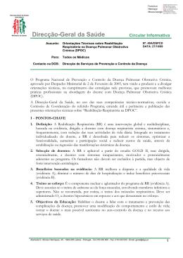 Orientações Técnicas da Reabilitação Respiratória na DPOC