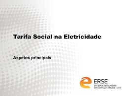 Tarifa Social na Eletricidade