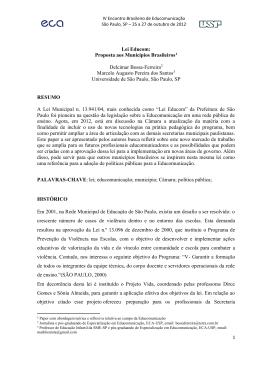 Lei Educom: Proposta aos Municípios Brasileiros1
