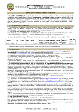 SAWABONA CONCURSOS E CAPACITAÇÃO – EDITAL