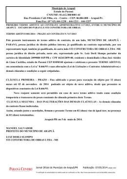 Município de Arapuã Estado do Paraná CNPJ/MF: 01.612.388/0001