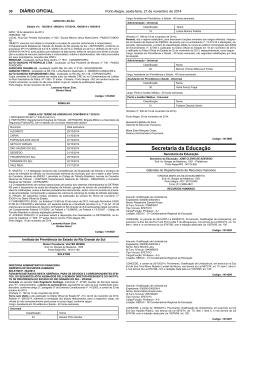 14ª nomeação - DOE 21.11.2014 - Instituto de Previdência do