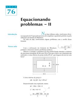 76. Equacionando problemas - II