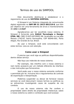 Termos de uso do SIMPOOL