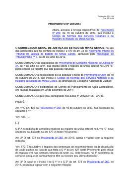 Provimento nº 281 - Tribunal de Justiça de Minas Gerais