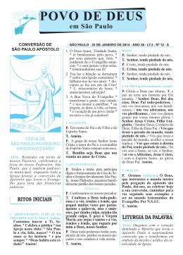 POVO DE DEUS - Arquidiocese São Paulo