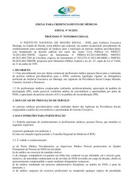 o Edital - Ministério da Previdência Social