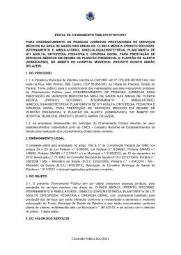 EDITAL DE CHAMAMENTO PÚBLICO Nº 002/2012