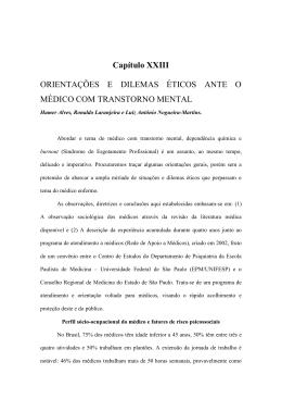 Capítulo XXIII ORIENTAÇÕES E DILEMAS ÉTICOS ANTE O