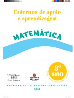 MATEMATICA_3ANO_ Aluno - Secretaria Municipal de Educação